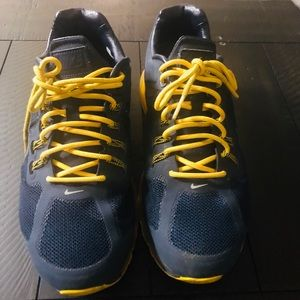 Blue and yellow AirMax Nike